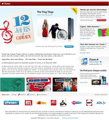 iTunes Music Store - 12 jours cadeaux